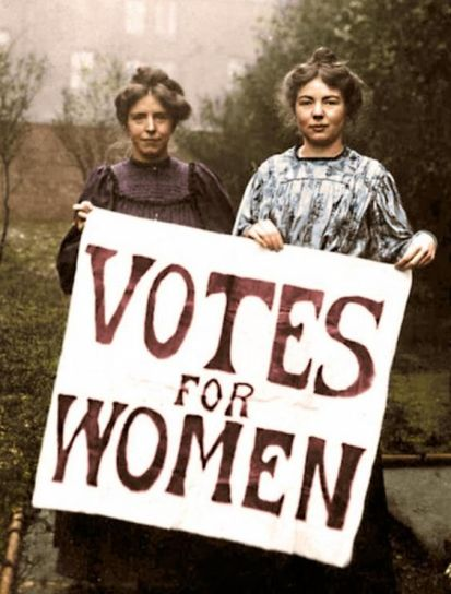 Founders of the Women's Social and Political Union (WSPU), Annie Kenney and Christabel Pankhurst.