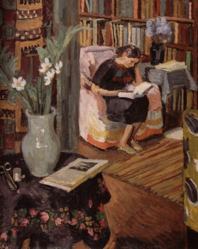 Interior with the Artist's Daughter (1935) by Duncan Grant