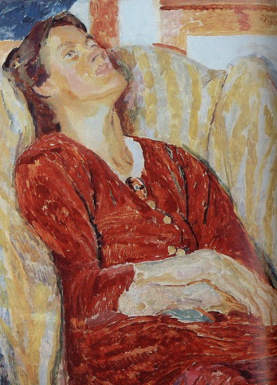 Portrait of Vanessa Bell by Duncan Grant (1915)
